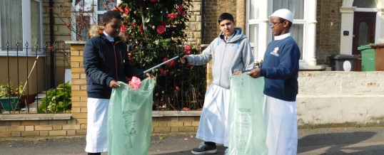 Spring Clean! Lantern of Knowledge students clean streets of Leyton!