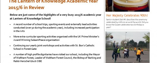 The Lantern Times – Termly School Newsletter Issue 03